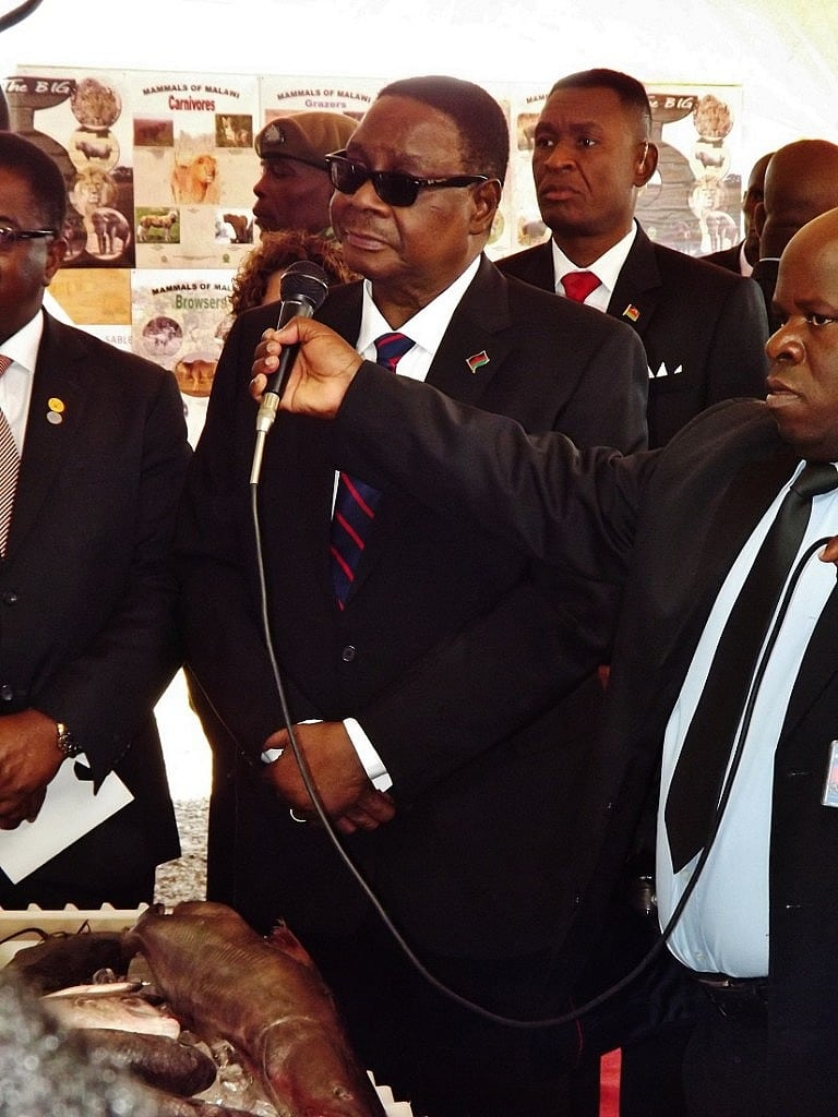 His Excellency Prof. Arthur Peter Mutharika is shown some of the incentives to protect Malawi's Natural Resources