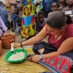 Teaching the benefits of eco-stoves in communities