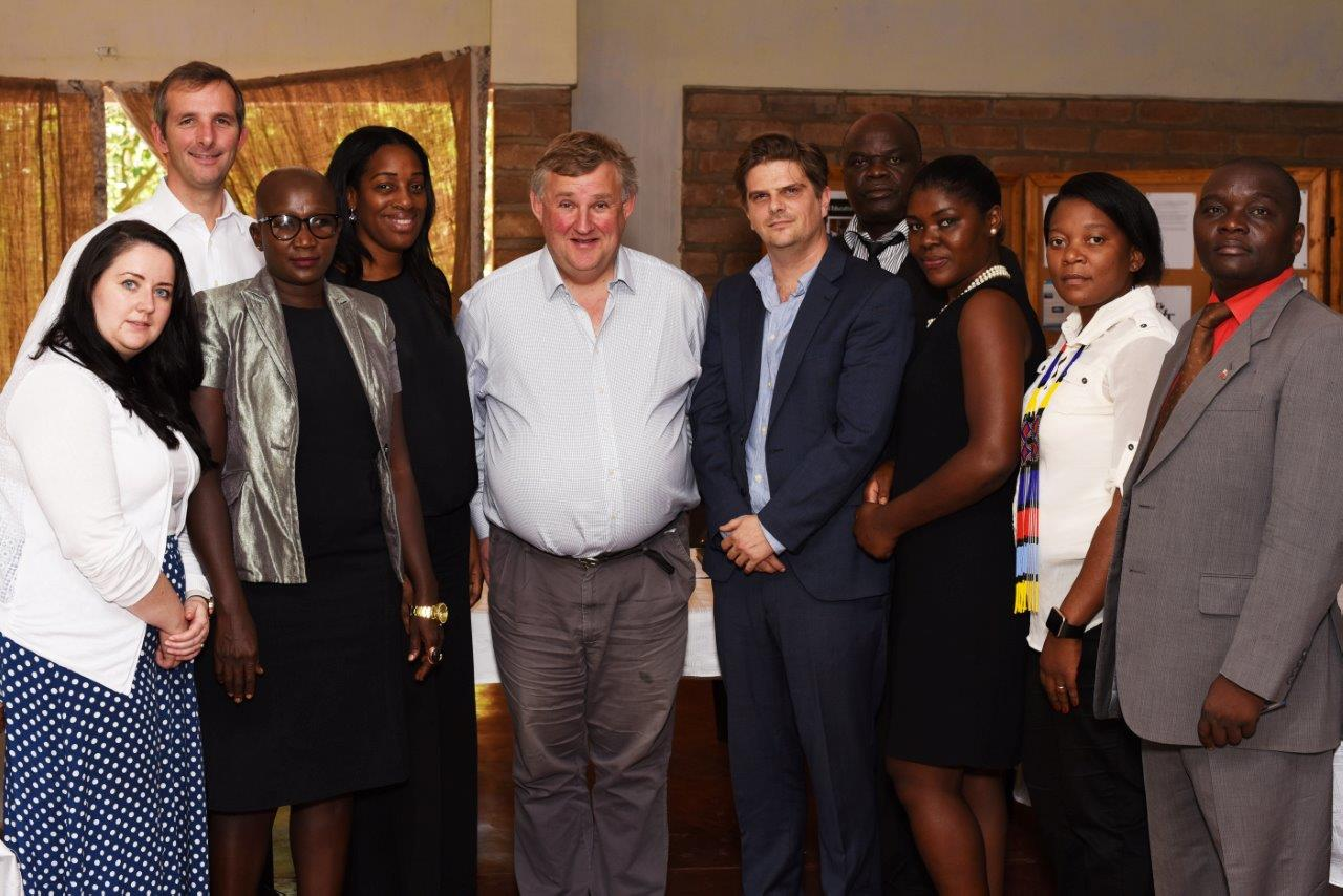 From left to right: Angela Crawley (Scottish National Party, Lanark & Hamilton East), Liam McArthur (MSP Scottish Lib Dems), Beatrice Mateyo Mkanda (Foreign & Commonwealth Office), Kate Osamor (Labour, Edmonton and Shadow Secretary of State for International Development), Oliver Colvile (Conservative, Plymouth, Sutton & Devonport), Jonny Vaughan (Executive Director, Lilongwe Wildlife Trust), Chiza Manda (Deputy Director, Department of National Parks & Wildlife), Susan Lukhere (Project Manager, Citizens for Justice), Hellen Chabunya (Head of Political and Public Affairs, Foreign & Commonwealth Office), Hon Alex Major (co-chair Malawi Parliamentary Conservation Caucus and MP, Kasungu West)