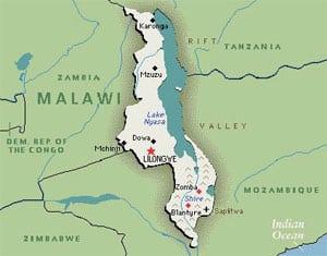 malawi map