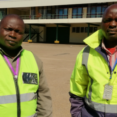 BRAVE AIRPORT WORKERS INVOLVED IN DRAMATIC PANGOLIN RESCUE