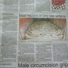 MIXED REACTIONS ON IVORY CASE SENTENCE