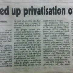 'SPEED UP PRIVATISATION OF PARK'