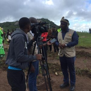 Inkosi Gomani V. hosting the Forestry tree planting event