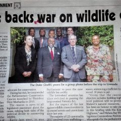 ROYAL VISIT TO MALAWI FOCUSES ON WILDLIFE CRIME
