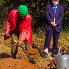 MINISTER BREAKS GROUND FOR PROJECT GREENHEART