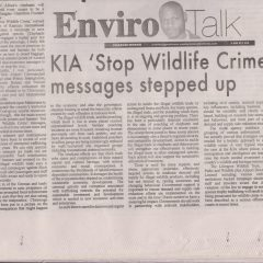 KIA 'STOP WILDLIFE CRIME' MESSAGES STEPPED UP